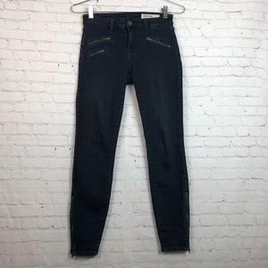 Pistola Dark Wash Zipper Ankle Skinny Jeans 24